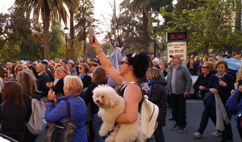 La movilización en apoyo a Macri en Bahía Blanca cosecho escaso apoyo