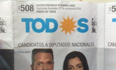 Denuncian la presencia de boletas truchas del Frente de Todos en las mesas electorales de Bahía Blanca