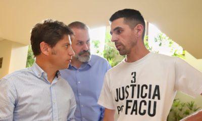 Axel Kicillof recibió el reclamo de los familiares de Facundo Saccoccia