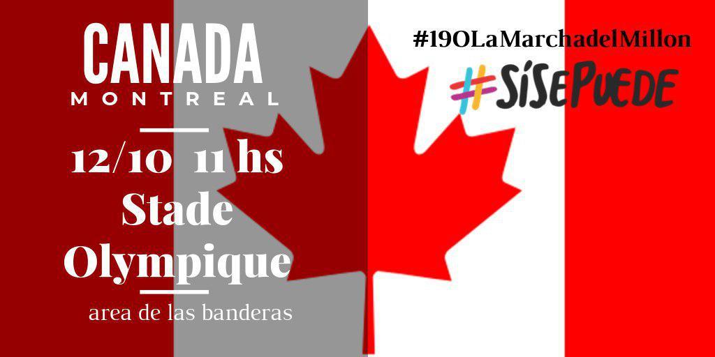 marcha si se puede en el exterior Canada