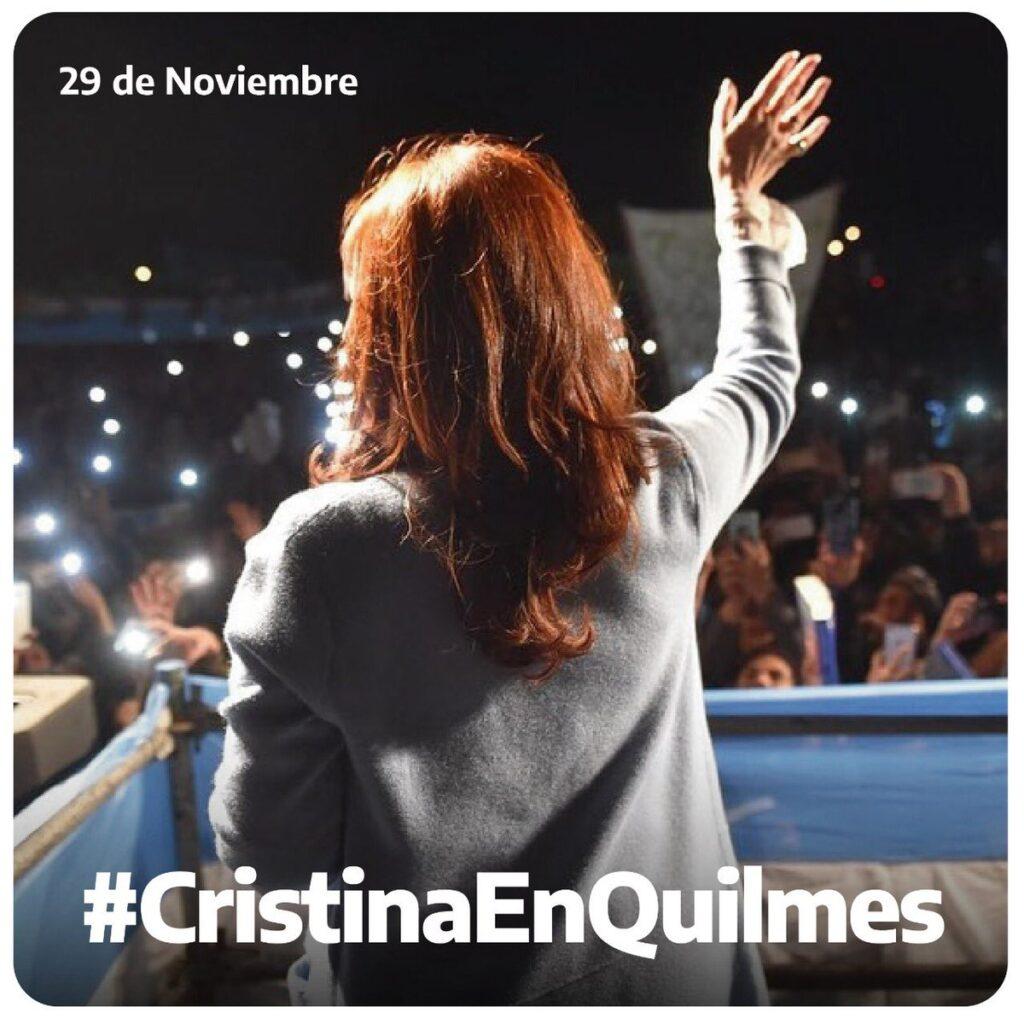 Cristina presenta sinceramente en Quilmes