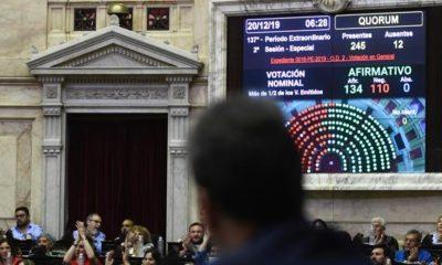 Diputados dio media sanción a la ley de solidaridad social y reactivación productiva