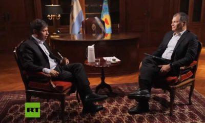 Axel Kicillof en entrevista con Rafael Correa