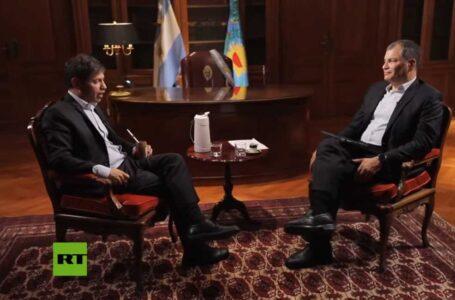 Axel Kicillof le concedió una entrevista al expresidente Rafael Correa