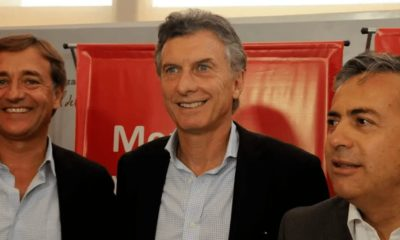 Mauricio Macri con Rodolfo Suárez y Alfredo Cornejo