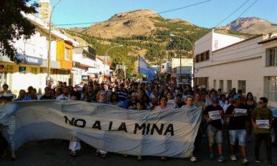 Movilizacion contra la minería en Chubut