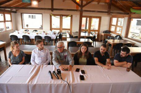 Otermín y Tignanelli visitaron a Dichiara en Monte Hermoso juntos a los legisladores Durán y Godoy
