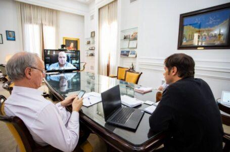 Kicillof y Moccero presentaron las obras del hospital municipal de Coronel Suárez