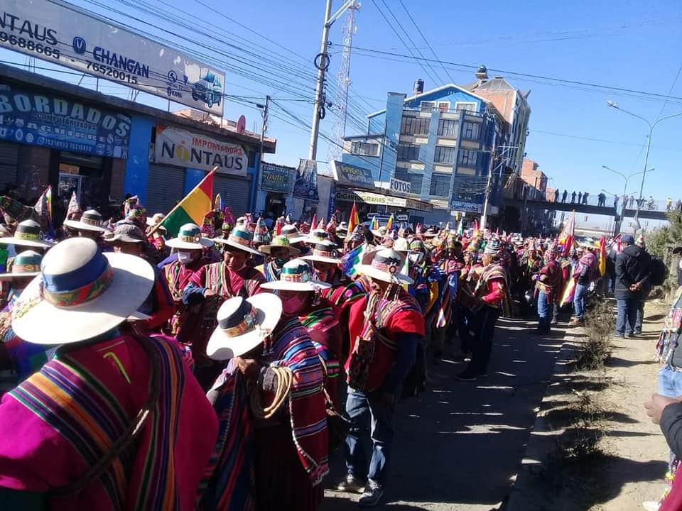 marcha elecciones bolivia huelga