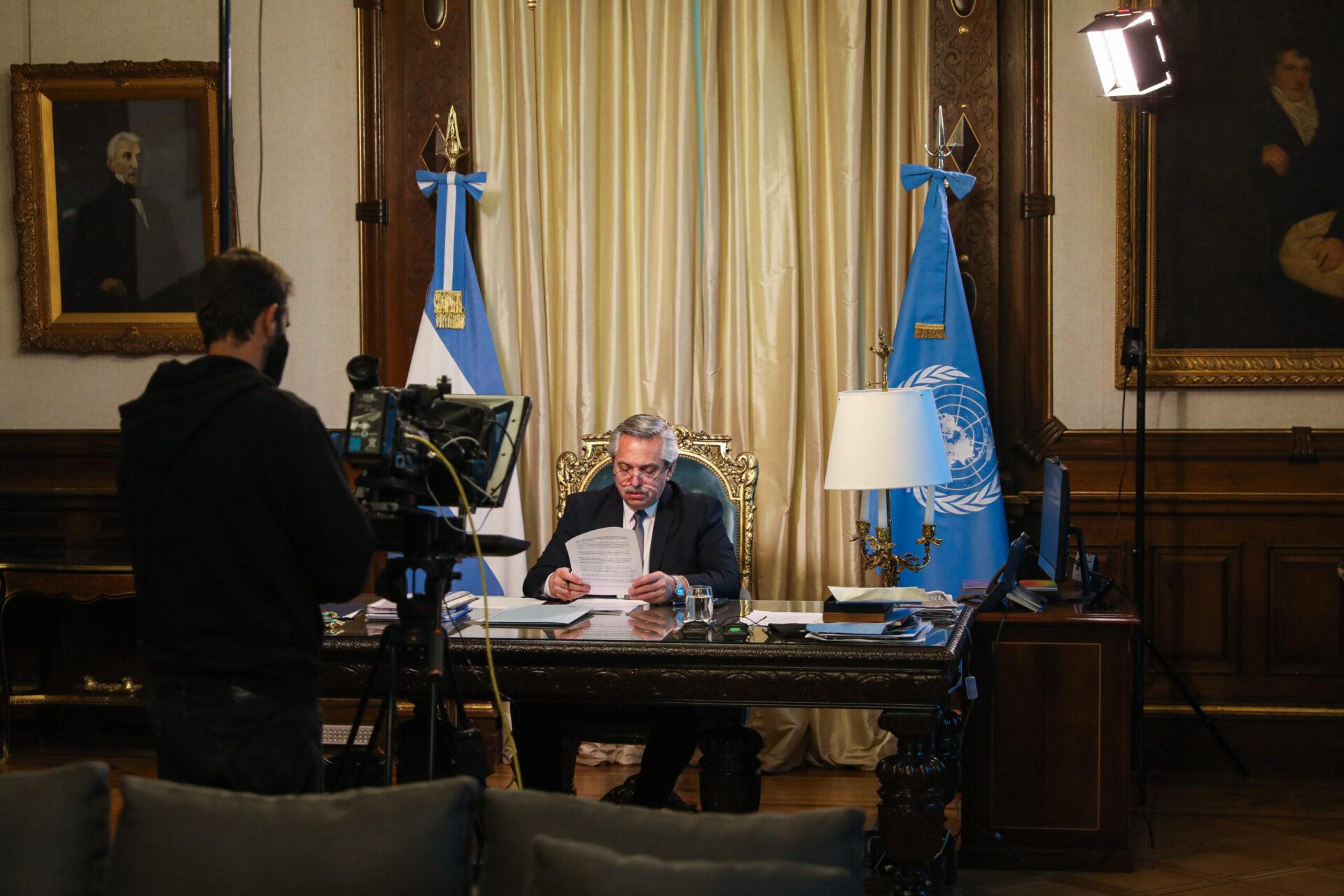 Diálogo y cooperación: los ejes del discurso de Alberto Fernández en su primer discurso ante la ONU