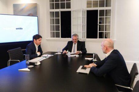 Larreta se reunió con Fernández y Kicillof en medio de la tensión por los fondos de coparticipación