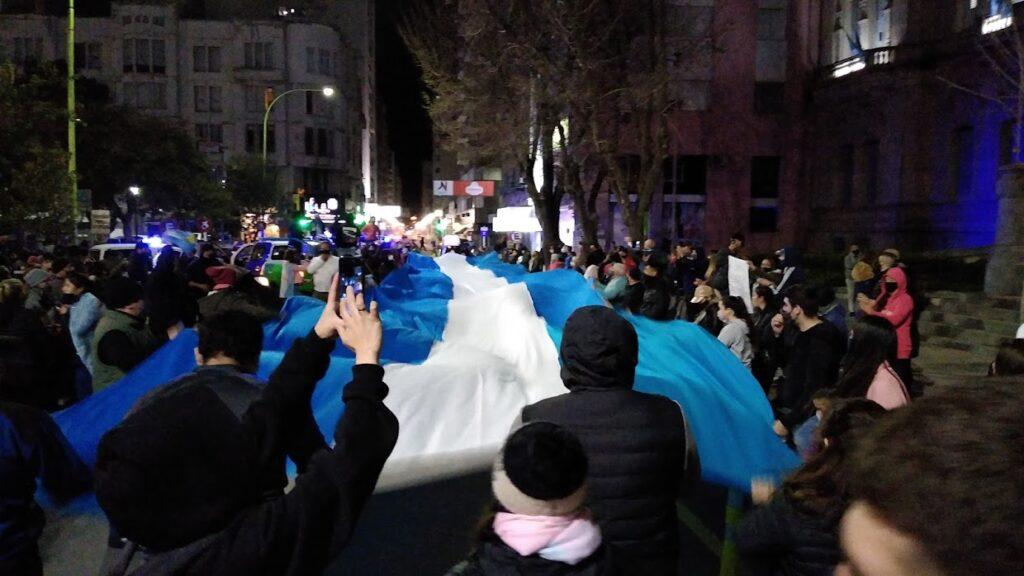 protesta policial bahia blanca