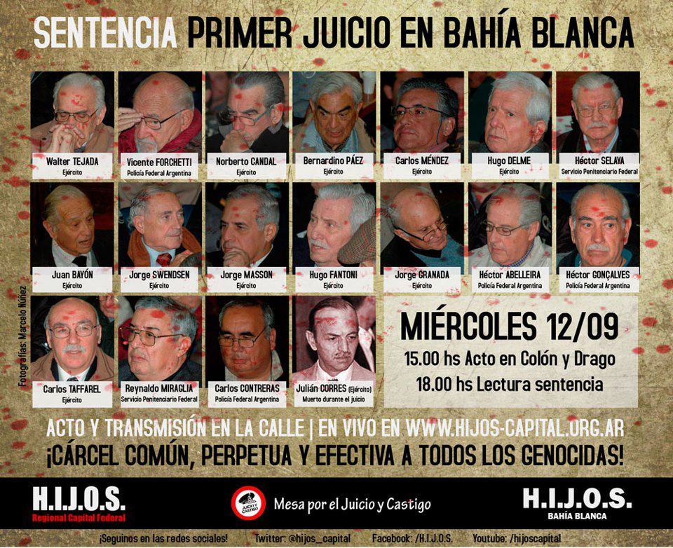 Primer Sentencia Juicios de Lesa Humanidad en Bahía Blanca