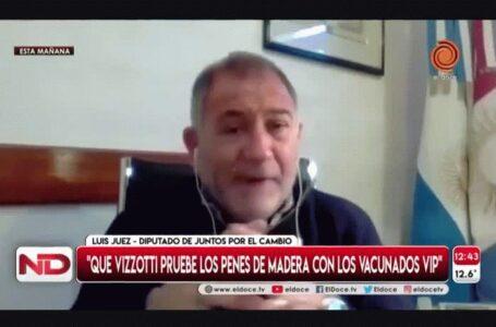 """El machismo de Luis Juez: """"que Vizzotti pruebe los penes de madera con los vacunados vip"""""""
